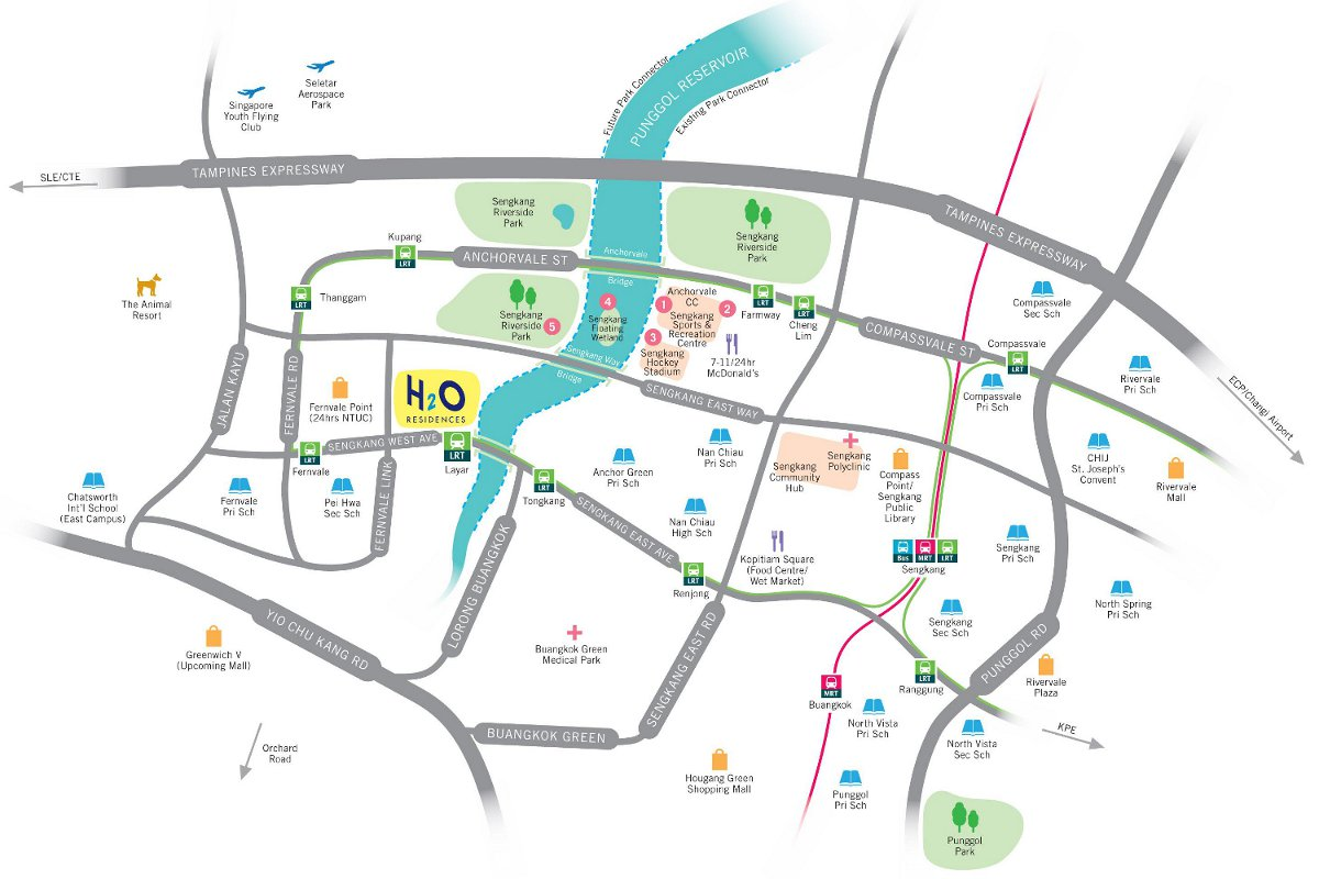 H2O Residences Location